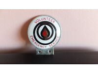 1960s Car Badge - Volunteer Emergency Service - Rescue sign