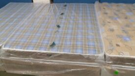 New standard double bed base and mattress