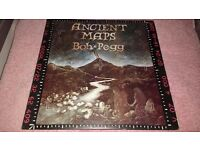 BOB PEGG-ANCIENT MAPS-VERY RARE FOLK L.P-MAP INCLUDED