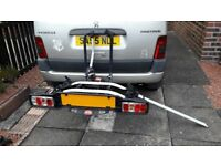Writter ZX500 bike carrier for 2 bikes, takes up to 60kg, towbar mount with electric hookup..as new