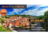 Bed & Breakfast Prague City Break from £99pp - Saving 44%