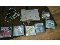 Playstation 1 and 6 games