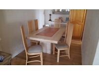Stunning Marble Dining Table & 6 Chairs