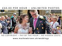 Wedding Photographer / Photography £60.00 per hour