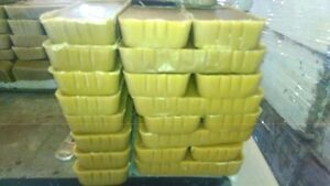 4-1 pound Pure Beeswax Blocks.  (YELLOW). Free Shipping!!!