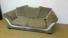 DFS 3 seater sofa In brown & cream
