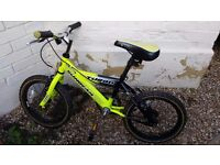 4-6 years 14 inch yellow bicycle