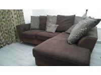 Corner SCS Sofa (L Shape) Brown