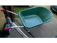 plastic garden wheelbarrow