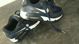 Size 10 kids Nike air trainers
