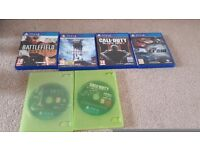 PS4 console, 6 games, dual charger,1 controller,steering wheel