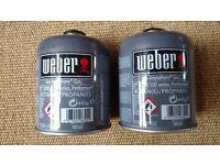 2 x Weber Go-Anywhere Gas, Q 1000/100 series, Performer, BUTANE/PROPANE, 445g, Full