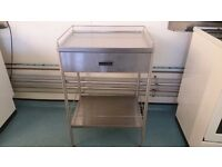"""kitchen trolley, stainless steel, with optional wooden top and large drawer """"Ikea"""""""
