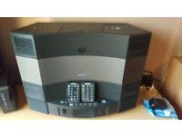 bose acoustic wave and 5 disc cd changer with 2 remotes