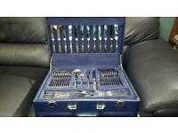 Suissine 84 piece gold plated cutlery set
