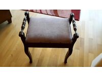 Vintage piano stool with under seat storage