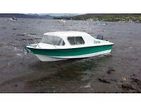 Vanguard Thunderjet boat, galvanised road trailer & 30hp Evinrude outboard for sale