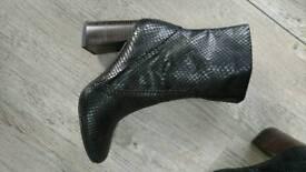Brand new Ladies Dark Brown Boots Croc Style Size 4