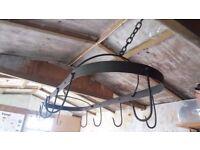 Wrought iron pot hanger