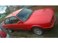 BMW E30 Coupe in Red with BBS's- 316i - MOT'd but needs TLC