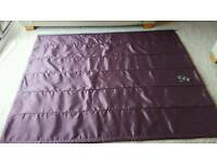 Dunelm purple roman blind lining. 72 inches wide x 56 inches drop.