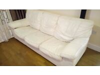 Leather sofa bed for free