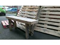 Palletwood bench