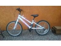 Girls bike , age 6-8 good cond