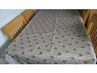 Rectangular wipe clean tablecloth