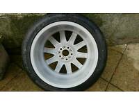 BMW e65 e66 alloy wheel with brand new continental tyre