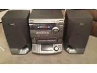 Sony HCD-XB200 HiFi audio system with Sony Speakers SS-XB200, vintage, old