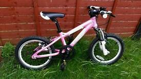 "Girls bike CARRERA Aluminium frame 16"" wheels"