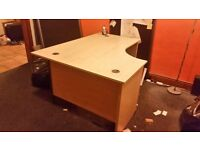 3 superb desks 2 filing cabinets 3 sound reducing dividers & office chair
