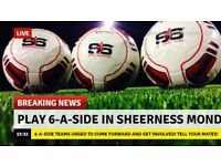 Join your local Sheerness Monday 6aside league