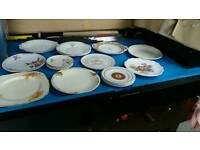 job lot of assorted vintage decorative plates