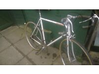 old 70s PEUGEOT RACER , 22 AND A HALF INCH FRAME , NEEDS A GOOD CLEAN, 2 BRAND NEW TYRES FITTED