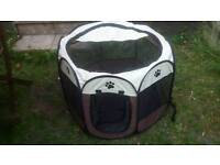 Foldable Fabric Pet Playpen Dog Cat Puppy Rabbit Kennel Run Cage Fence Tent Pen