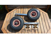 Stainless Steel Folding Dinghy Launch Wheels