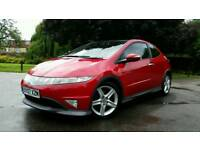 HONDA CIVIC 1.8 VTEC TYPE S GT SHIFT AUTO + GLASS PANORAMIC ROOF + RED/BLACK + HPI CLEAR + 2 KEYS +