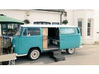 T2 Campervan also fully functioning photo booth