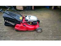 petrol lawn mower cobra rear roller