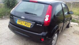 Ford FIESTA 1.25 STYLE MODEL CLIMATE BLACK PETROL MANUAL GEARBOX 07 REG MOT TAX SERVICE AIR CON