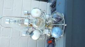 Lavander bath salts & oil in holder