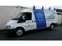 2004 ford transit t280 long wheel base semi high roof,90 bhp,tow-bar,roof rack,psv august 2017,