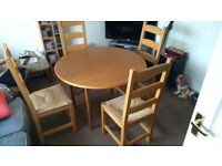 Drop Leaf Dining Table And 4 Chairs