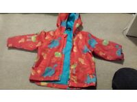 Dinosaur rain jacket size 2-3 years £3