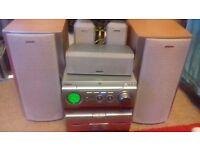 SONY MHC-W280 2-BOX MINI HI-FI COMPONENT SYSTEM DVD HOME CINEMA + SPEAKERS