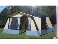 Cabanon 5 Berth Frame tent + 2 person bedroom annexe + sun canopy