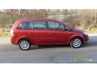Vauxhall ZAFIRA 1.6 LITRE ,7 SEATER WITH PRIVATE PLATE