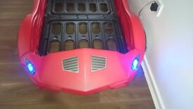 Red Sport car bed with working lights